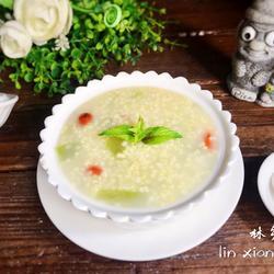 甜瓜小米粥