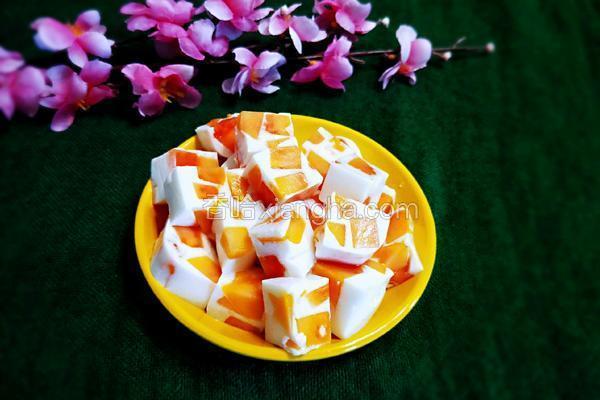 木瓜牛奶果冻
