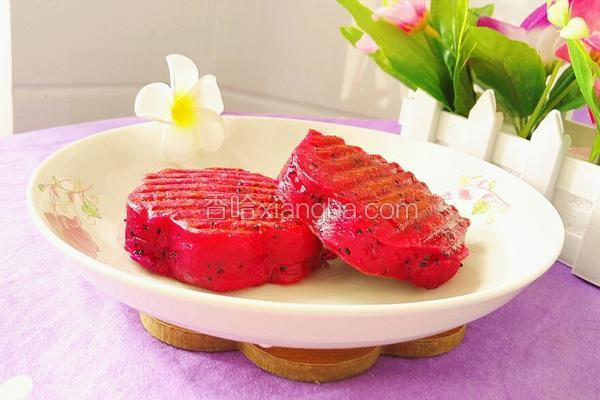 火龙果牛奶煎饼(花形)
