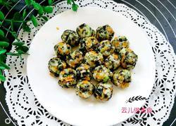 芝麻海苔蔬菜小饭团