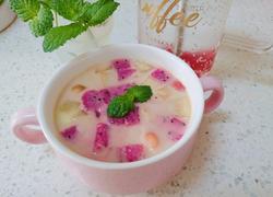 蜜桃红茶奶冻