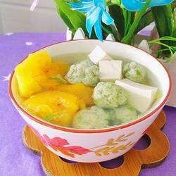 木瓜豆腐圆子汤