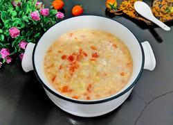 西红柿丝瓜虾米粥