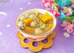 绿豆南瓜圆子汤