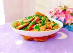 豆腐干韭菜炒虾