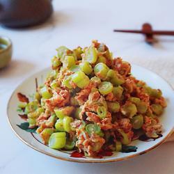 虾酱鸡蛋炒四季豆