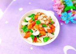 胡萝卜青椒炒杏鲍菇