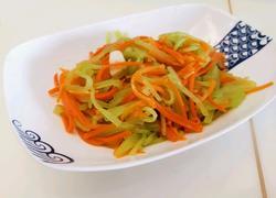 蒜香莴笋胡萝卜丝