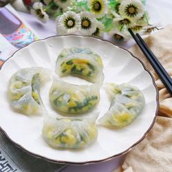 水晶韭菜鸡蛋饺子