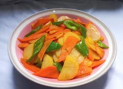 素炒胡萝卜土豆片