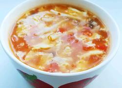 番茄蟹味菇蛋汤