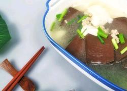 冬天来一碗猪血豆腐汤