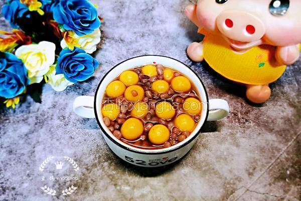 红豆南瓜糯米圆子汤
