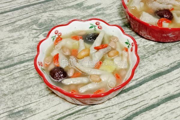 花生红枣鸡爪汤