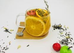 热饮水果茶 蜜桃百香果茶