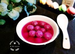 紫薯糯米圆子汤