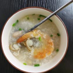 虾干元贝粥的做法[图]