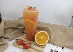 喜茶同款 橙香草莓果茶