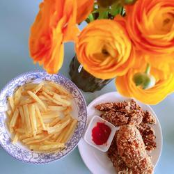 宅家必备下午茶~炸鸡翅薯条的做法[图]