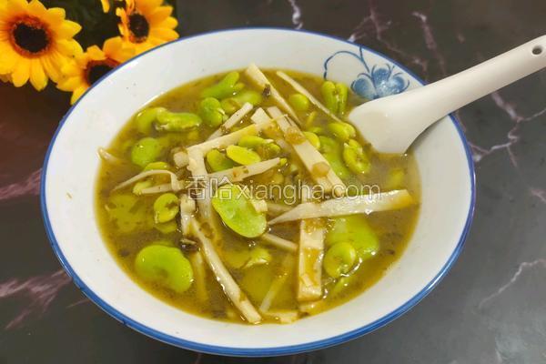 笋丝豆瓣汤