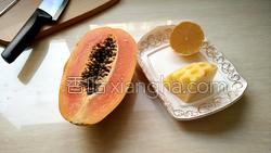 木瓜菠萝汁的做法图解1