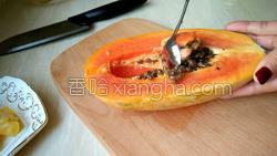 木瓜菠萝汁的做法图解3